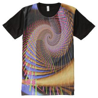 Camiseta Con Estampado Integral Fractal fino abstracto psicodélico 2 Trippy