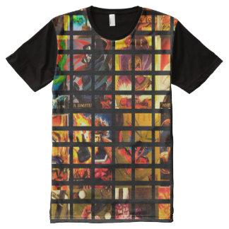 Camiseta Con Estampado Integral Frikis cómicos del héroe