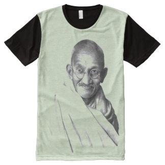 Camiseta Con Estampado Integral Gandhi: Indpendence y Nonviolence