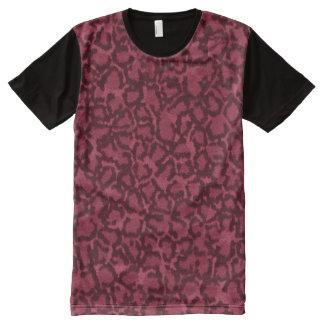 Camiseta Con Estampado Integral Gato rosado