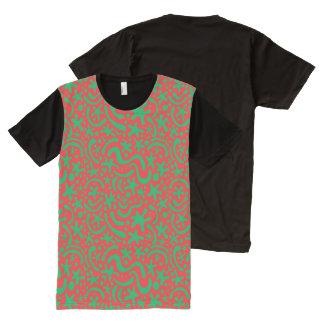 Camiseta Con Estampado Integral Gota y Squiggle locos del navidad