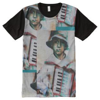 Camiseta Con Estampado Integral Hombre de la camiseta, acordeón
