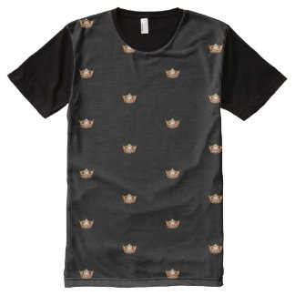 Camiseta Con Estampado Integral Hombres de Srta. América/camisa anaranjada de la