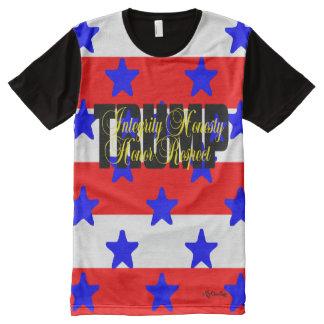 Camiseta Con Estampado Integral ¡Honor del respecto de la honradez de la
