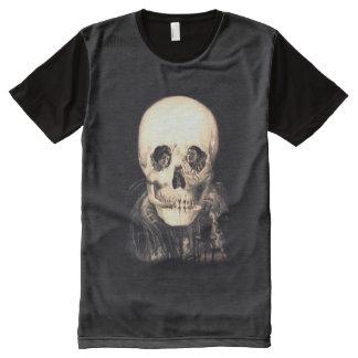 Camiseta Con Estampado Integral Ilusión del cráneo