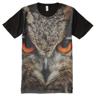 Camiseta Con Estampado Integral Impresión del búho de las criaturas de todo el