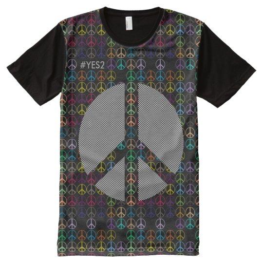 Camiseta Con Estampado Integral Independencia escocesa Yes2 ningún Trident