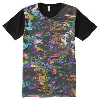 Camiseta Con Estampado Integral Interferencia espectral de los triángulos