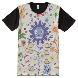 Camiseta Con Estampado Integral Jardín de la sustancia pegajosa