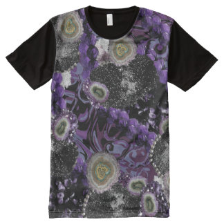 Camiseta Con Estampado Integral Jeweled en púrpura