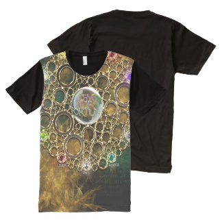 Camiseta Con Estampado Integral LA CONEXIÓN DE LA PROSPERIDAD: Gemas de la fortuna