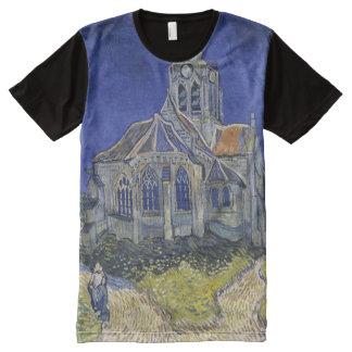 Camiseta Con Estampado Integral La iglesia en Auvers de Vincent van Gogh