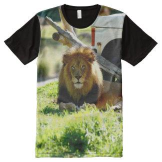 Camiseta Con Estampado Integral la mirada de los leones