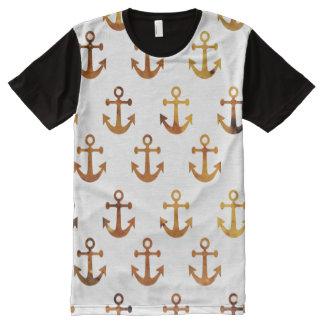 Camiseta Con Estampado Integral La textura ambarina ancla el modelo