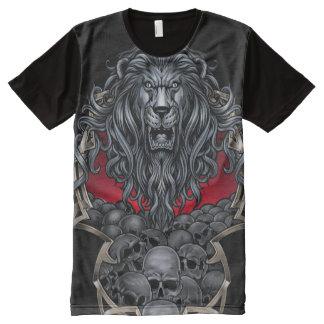Camiseta Con Estampado Integral León y cráneos grandes