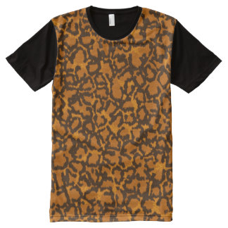 Camiseta Con Estampado Integral Leopardo