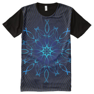 Camiseta Con Estampado Integral Mandala de Ichthus