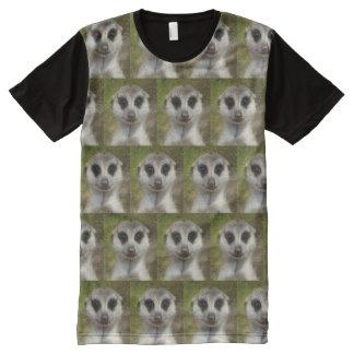 Camiseta Con Estampado Integral Meerkat divertido 03,2