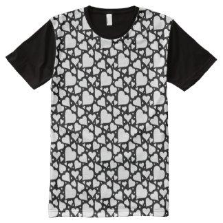 Camiseta Con Estampado Integral Modelo de los corazones del el día de San