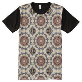 Camiseta Con Estampado Integral Moho-Mandala, colores del moho
