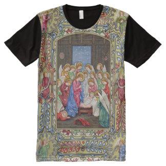 Camiseta Con Estampado Integral Natividad de nuestro señor