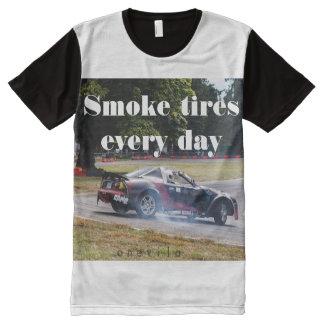 Camiseta Con Estampado Integral Neumáticos del humo cada día Zombiata