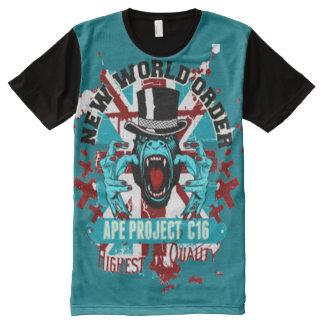 Camiseta Con Estampado Integral Nuevo orden mundial