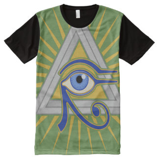 Camiseta Con Estampado Integral Ojo de Illuminati