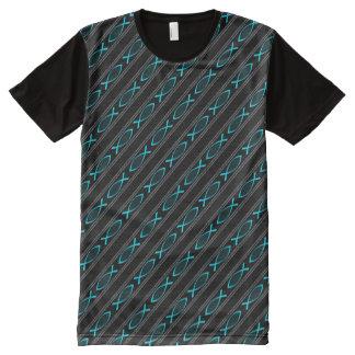 Camiseta Con Estampado Integral Pescados y cuerda de Jesús