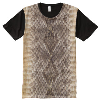 Camiseta Con Estampado Integral Piel de serpiente de la serpiente de cascabel