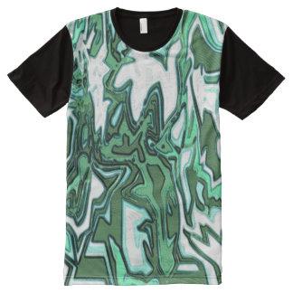 Camiseta Con Estampado Integral playeras -Skater verde, Weis, negra/
