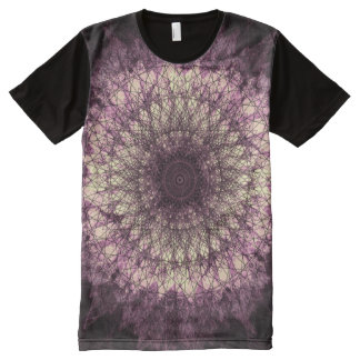 Camiseta Con Estampado Integral Purple Mandala