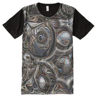 Camiseta Con Estampado Integral Reflexiones tridimensionales