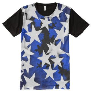 Camiseta Con Estampado Integral Refresque las estrellas azules