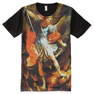 Camiseta Con Estampado Integral San Miguel el arcángel