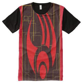Camiseta Con Estampado Integral Símbolo de la fantasía del consejo de Digitaces