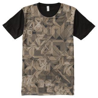 Camiseta Con Estampado Integral Skater T-shirt para hombres negros, Marrón/