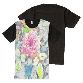 Camiseta Con Estampado Integral solo color de rosa rosado