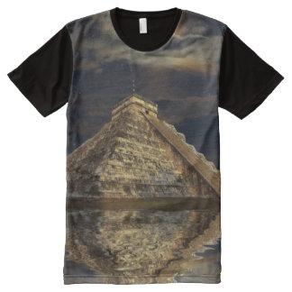 Camiseta Con Estampado Integral Templo maya de Chichen Itza de la luna sagrada