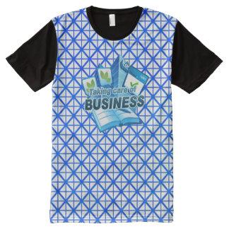 Camiseta Con Estampado Integral Tomando a cuidado del blanco del negocio toda la