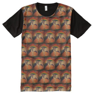 Camiseta Con Estampado Integral Unicornio del arco iris