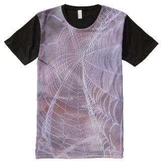 Camiseta Con Estampado Integral Web de araña real de la foto impreso en la