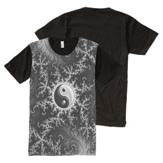 Camiseta Con Estampado Integral Yin Yang #1