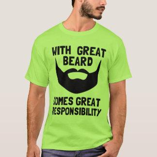 Camiseta con la gran barba viene la gran responsabilidad