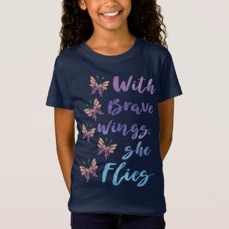 Camiseta Con las alas valientes ella vuela