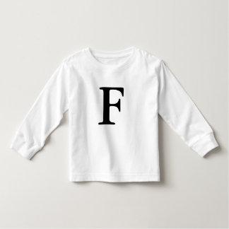 Camiseta con monograma inicial de la letra F