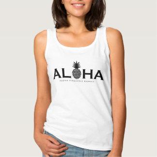 Camiseta Con Tirantes ALOHA pineapple(Black)