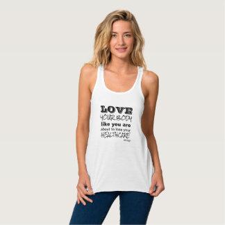 Camiseta Con Tirantes Ame su cuerpo