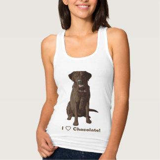 Camiseta Con Tirantes Amo a labradores retrieveres del chocolate