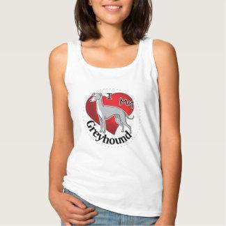 Camiseta Con Tirantes Amo mi galgo divertido y lindo adorable feliz